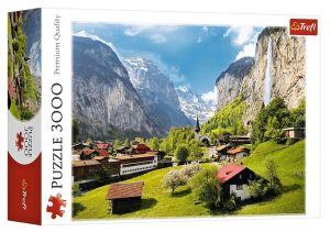Puzzle TREFL 3000 dílků  - Lauterbrunnen Švýcarsko 33076