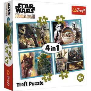 puzzle   Trefl 35, 48, 54 a 70  dílků -  4v1  - Star Wars  34377