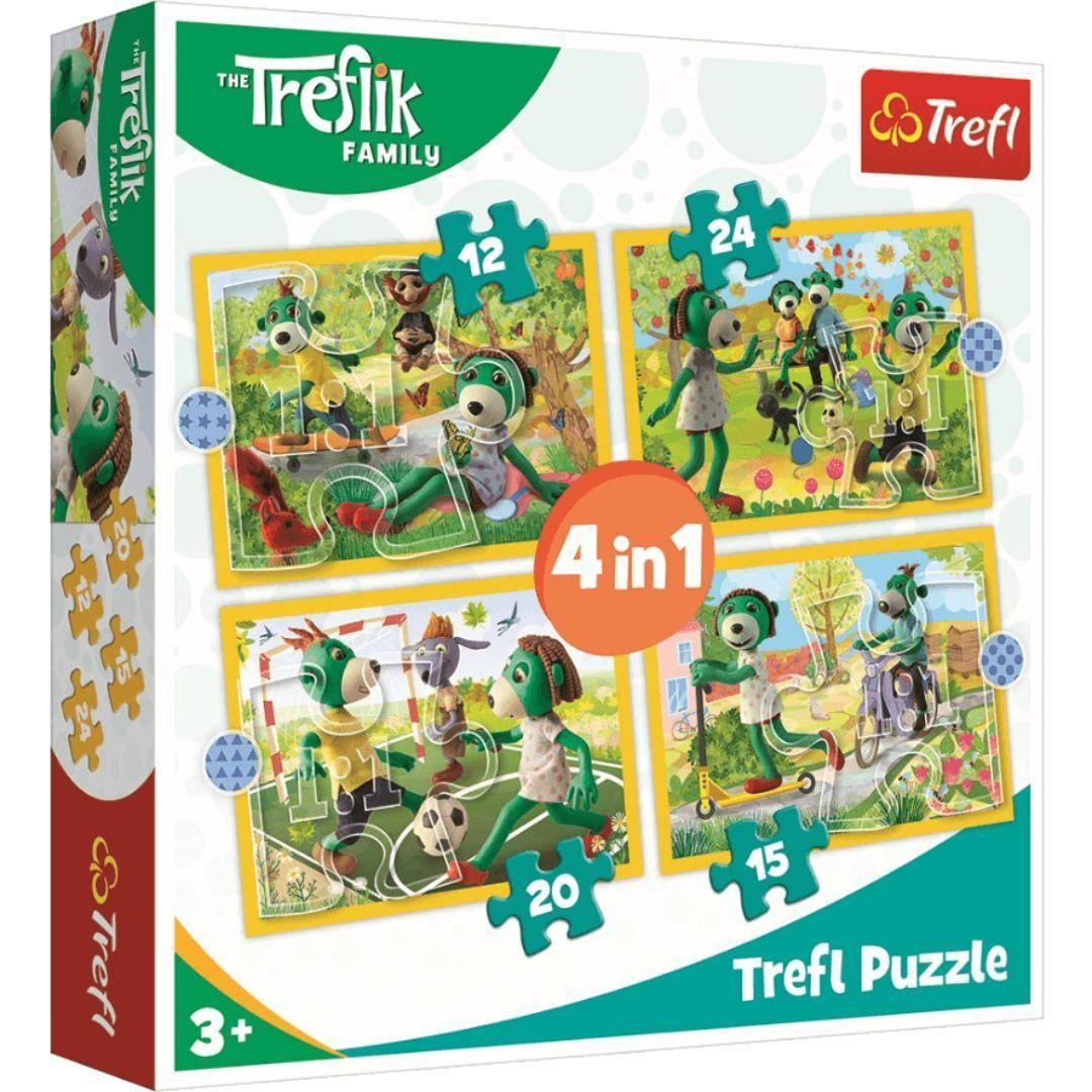 Trefl Puzzle 34358 - Hraní Treflíků 4v1 35 48 54 70 dílků