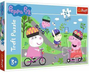 Trefl Puzzle Maxi 24 dílků - Aktivní den prasátka Peppy 14330