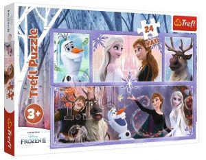 Trefl Puzzle Maxi 24 dílků - Svět plný magie  - Frozen 2  14345