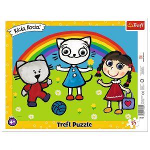 Trefl puzzle rámkové 25 dílků - Kocia Kicia  31389