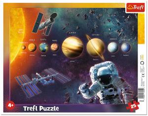 Trefl puzzle rámkové 25 dílků - Sluneční soustava 31342