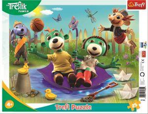 Trefl puzzle rámkové 25 dílků - Treflíci 31364