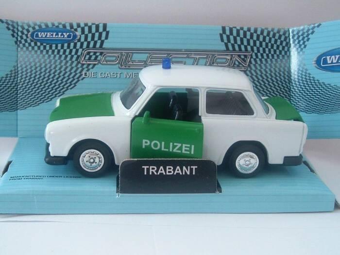 Trabant Polizei - policejní - 1:32 auto Welly