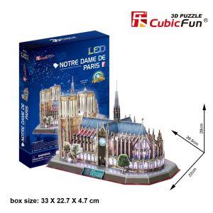 3 D Puzzle CubicFun - Notre Dame - Paříž  149  d. LED