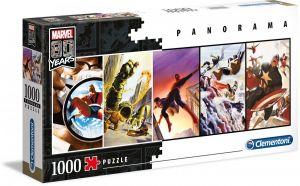 Puzzle Clementoni 1000 dílků panorama -  Marvel koláž 39611