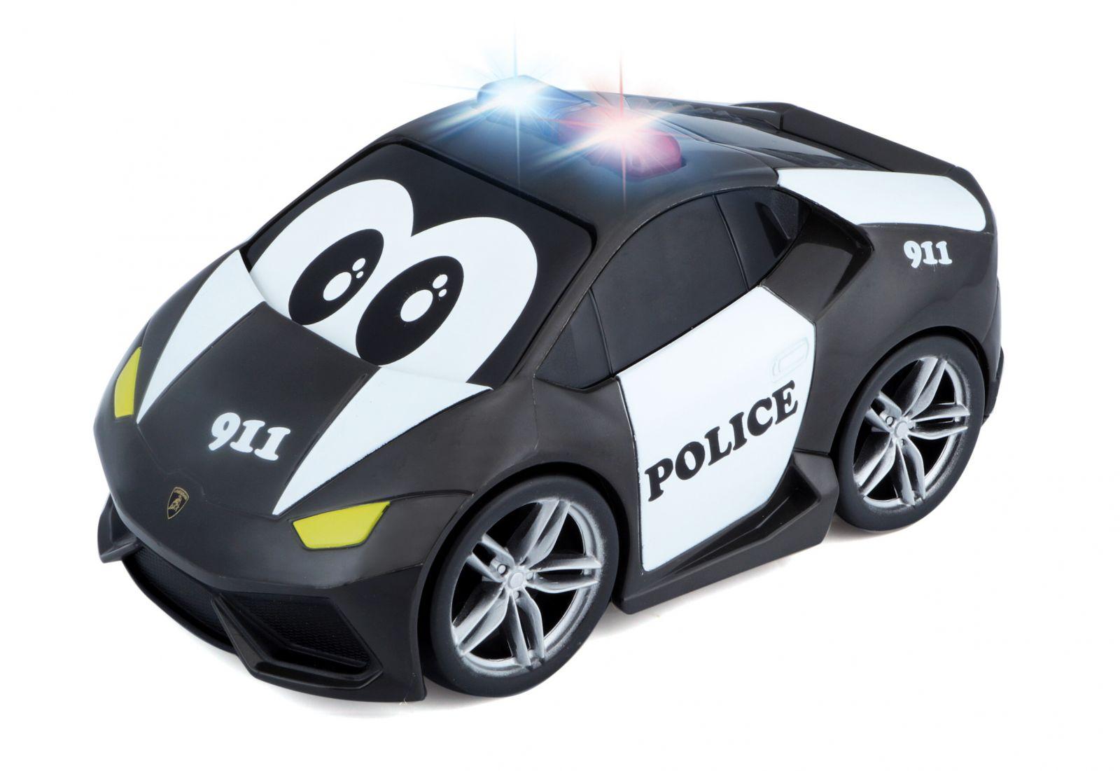 Bburago - autíčko Lamborghini Huracan se zvukem a světlem 13 cm - černé