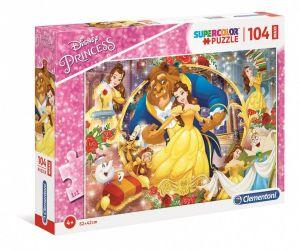 Clementoni puzzle 104 dílků MAXI - Kráska a zvíře  23745