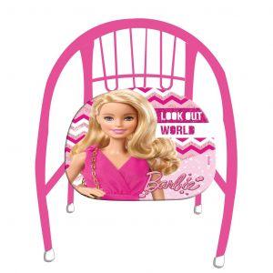 Dětská kovová židlička ( křesílko ) -  Barbie
