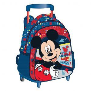 Diakakis -  batoh  na záda 27 x 31 x 10  Mickey s 3D povrchem Mickey  na   kolečkách