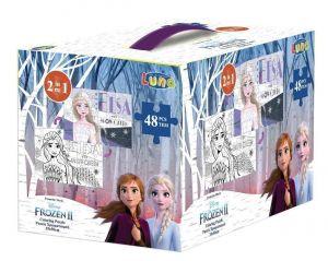 Diakakis - oboustranné puzzle 48 dílků - Frozen II