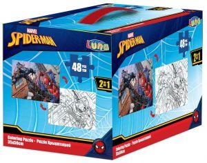 Diakakis - oboustranné puzzle 48 dílků - Spiderman