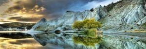 Heye - puzzle 1000 dílků panorama  - Modré jezero 29715