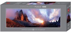 Heye - puzzle 1000 dílků panorama  - VON Humboldt - Tři štíty  29770