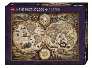 Heye  - puzzle 2000 dílků - Antická mapa 29666