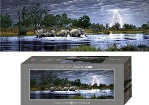 Heye  - puzzle 2000 dílků - VON Humboldt - Stádo slonů 29508