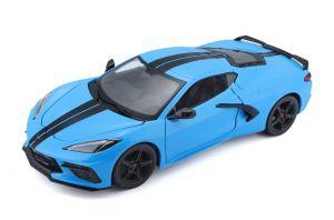 Maisto  1:24 Chevrolet Corvette Stingray Coupe  2020 - modrá  barva