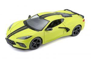 Maisto  1:24 Chevrolet Corvette Stingray Coupe  2020 - žlutá barva