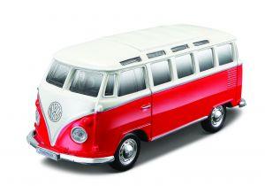 Maisto 21001 PR  Volkswagen  Van Samba -  červeno-béžová   barva