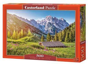 Puzzle Castorland 500 dílků - Léto v Alpách 53360