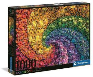 Puzzle Clementoni 1000 dílků - Barevný květinový vír 39594