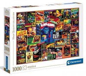 Puzzle Clementoni 1000 dílků  - Koláž - plakáty z trihlerů 39602
