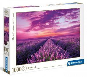 Puzzle Clementoni 1000 dílků - Levandulové pole 39606