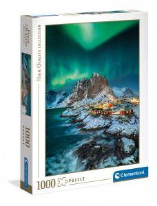 Puzzle Clementoni 1000 dílků  - Lofoty  na Islandu 39601