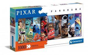 Puzzle Clementoni 1000 dílků panorama -  Pixar koláž 39610