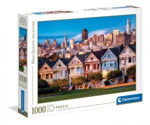Puzzle Clementoni 1000 dílků  - San Francisco - Malované domky  39605