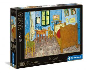 Puzzle Clementoni 1000 dílků - V. Gogh : Ložnice v Arles  39616