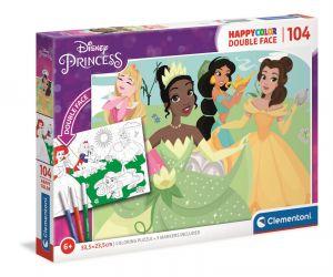Puzzle Clementoni  - 104 dílků  HappyColor  - Princezny  25714