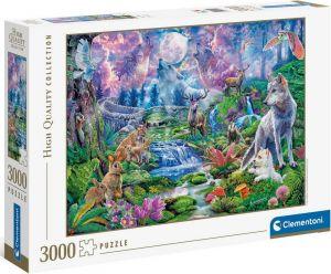Puzzle Clementoni 3000 dílků  - Divočina v měsíčním svitu 33549