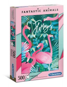 Puzzle Clementoni 500 dílků  - Fantastic Animals - Plameňáci    35067