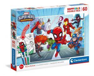 Puzzle Clementoni  60 dílků  HappyColor - Super hrdinové Marvelu 26098