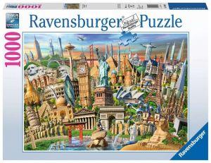 Puzzle Ravensburger 1000 dílků - Světové památky  198900