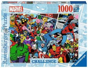 Puzzle Ravensburger 1000 dílků - Výzva - Hrdinové Marvelu 165629
