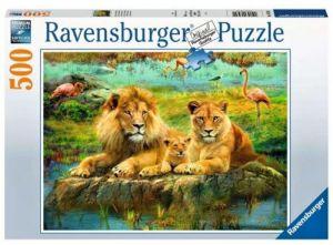 puzzle Ravensburger  500 dílků - Lví rodinka 165841