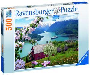 puzzle Ravensburger  500 dílků - Skandinávská idyla 150069