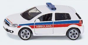 Siku - Wolkswagen Golf  VI 2,0 TDi  Ambulence PL - bílá barva