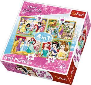 Trefl Puzzle 34309 - Veselý den princezen    4v1 35 48 54 70 dílků