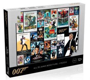 Winning Moves - puzzle 1000 dílků - James Bond - koláž z plakátů  43090