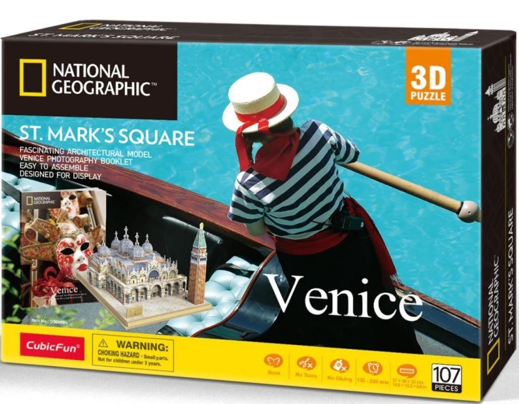3D puzzle CubicFun Benátky - 107 dílků Cubic Fun