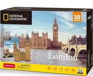 3D puzzle CubicFun Big  Ben  - 94 dílků