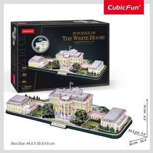 3D puzzle CubicFun CityLine - LED - Bílý dům 151 dílků Cubic Fun