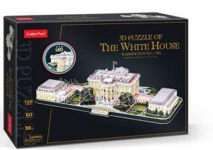 3D puzzle CubicFun CityLine  - LED - Bílý  dům  151  dílků