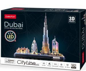3D puzzle CubicFun CityLine  - LED - Dubaj  182  dílků