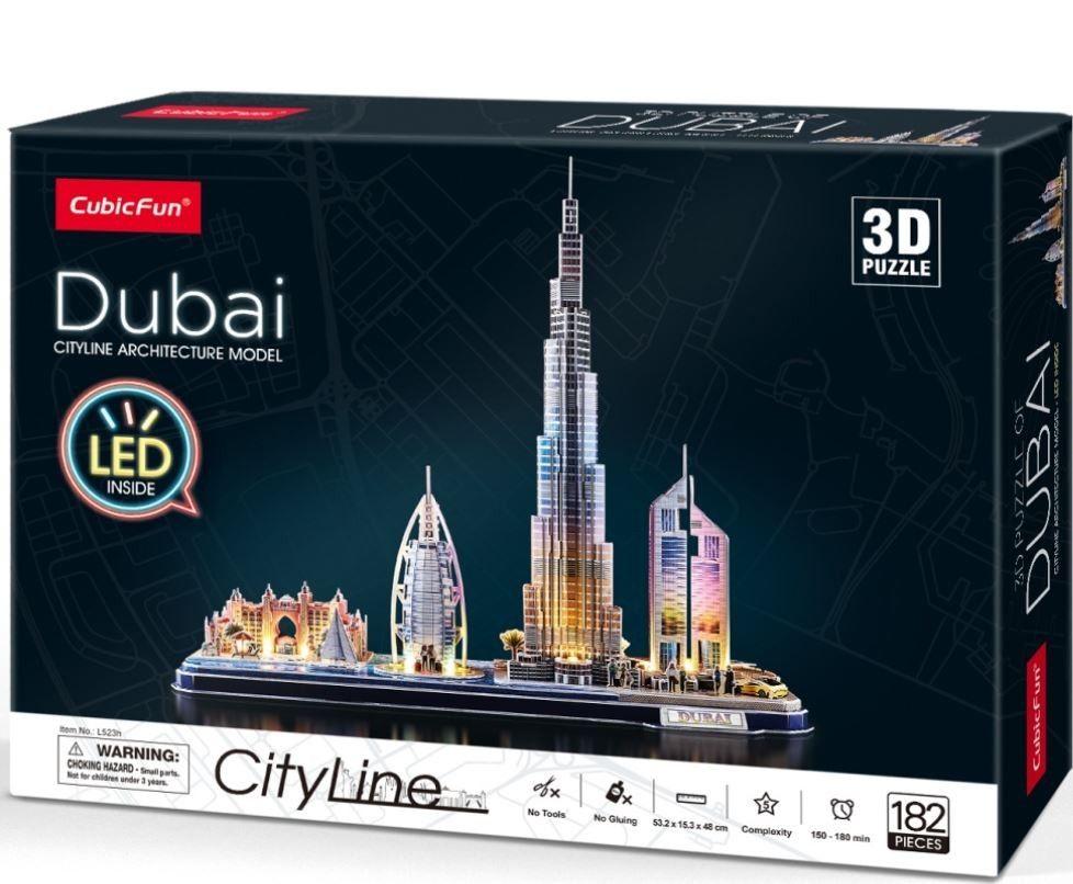 3D puzzle CubicFun CityLine - LED - Dubaj 182 dílků Cubic Fun