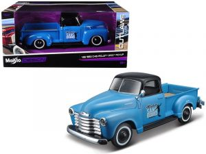 auto Maisto 1:25 Design - Chevrolet 3100 PickUp 1950 - modrá barva